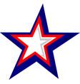 patriotic star graphic vector image