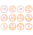 personalized candy sticker labels vector image vector image