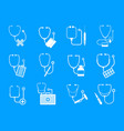 phonendoscope stethoscope icons set simple style vector image vector image