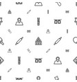 pin icons pattern seamless white background vector image vector image