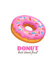pink donut vector image vector image
