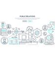 public relations - modern colorful line design vector image