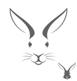 Rabbit head Logo vector image