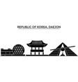 republic of korea daejon architecture city vector image