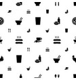 restaurant icons pattern seamless white background vector image vector image