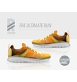 running shoes ad product template vector image