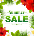 Sale Tropical Frame With Flowers vector image vector image