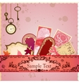 scrapbooking luxury card vector image