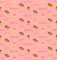 seamless pattern donuts and cupcakes vector image vector image