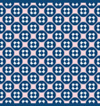 seamless pattern funky geometric texture pink blue vector image vector image