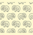 seamless pattern of one line art elephant vector image vector image