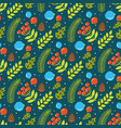 seamless pattern with image branches and vector image vector image