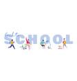 set pupils school children students vector image