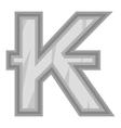 Sign of money lao kip icon black monochrome style vector image vector image