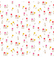 small flowers line floral romantic pattern vector image vector image