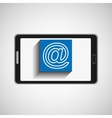 smartphone technology mail web vector image vector image