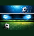 soccer banners vector image vector image