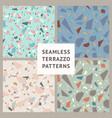 terrazzo set seamless patterns vector image vector image