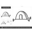 tourist tent line icon vector image vector image
