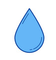 water drop line icon vector image vector image