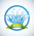 water icon vector image vector image