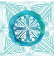 watercolor blue mandala with ornamental vector image