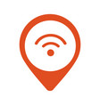 wi-fi location pointer icon vector image vector image