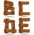 wooden b c d e
