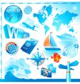 world travel set vector image vector image