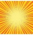 Yellow orange rays comic pop art retro background vector image vector image