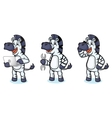 Zebra Mascot with laptop vector image vector image