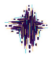 abstract geometric background from strips vector image