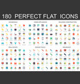 180 modern flat icons set household home vector image vector image