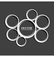 abstract circle shape on black background vector image vector image
