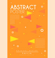 abstract poster bright placard template with vector image vector image