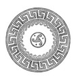 ancient greek round ornament vector image vector image