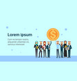 arab business group leader hold dollar coin vector image vector image