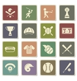 Baseball simply icons vector image