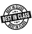 best in class round grunge black stamp vector image