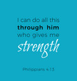 biblical phrase from philippians i can do all vector image vector image