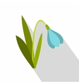 Blue bell flower icon flat style vector image