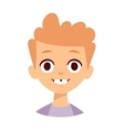 Boy smile face vector image vector image
