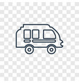 Camper van concept linear icon isolated on