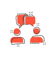 cartoon talk people icon in comic style man with vector image