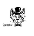 cat gentleman with cylinder hat and monocle vector image