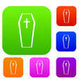 coffin set collection vector image vector image