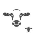 Cow logo vector image vector image