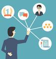 Customer Relationship Management System for vector image