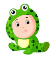 cute kids wearing animal costumes vector image vector image