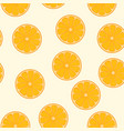 cute orange fruits seamless pattern seamless vector image